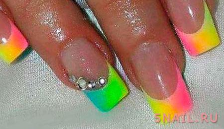 разноцветный френч