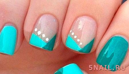 бирюзовое покрытие ногтей
