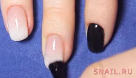 покраска ногтей в градиент