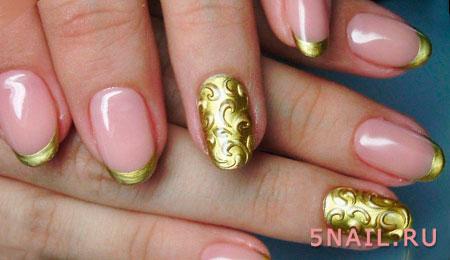 металлическая фольга на ногтях