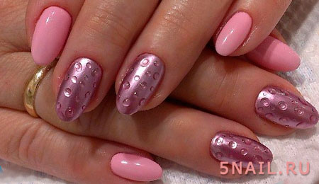 пузырьки лака на ногтях