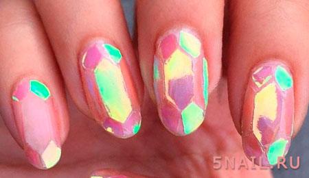 стекло покрытие ногтей