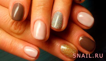 блестящий лак на ногтях