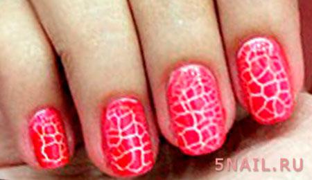 эффект трещин на ногтях