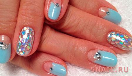 голубая краска для ногтей