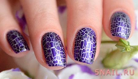 фиолетовый шеллак с потрескиваниями