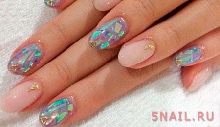 стекло и ногти