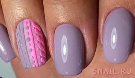 дизайн свитер на ногтях