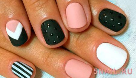 матовый гель лак на ногтях