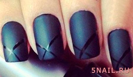 эффект матовости на ногтях