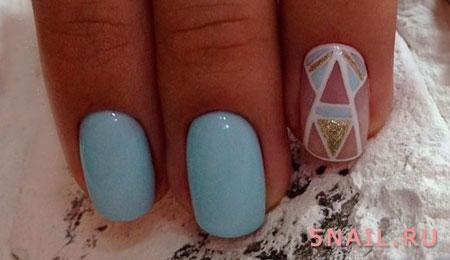 голубой шеллак с треугольниками