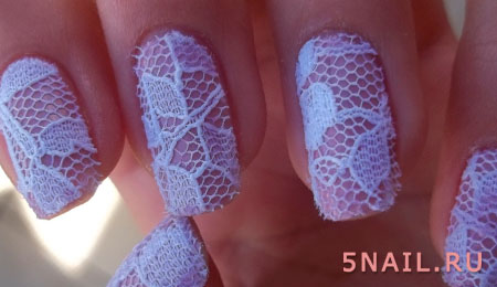 эффект тюли на ногтях