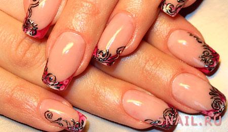 декор ногтей пленкой