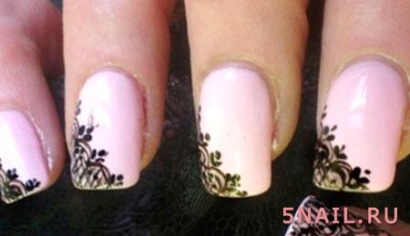 кружевные ногти на каждый день