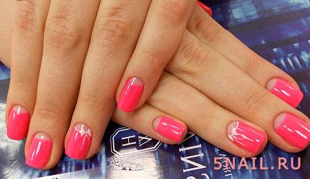 розовый обратный френч