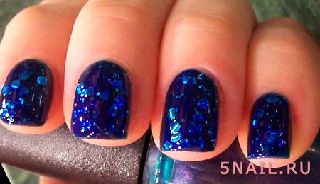 Гелевые ногти с блестками