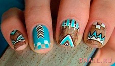 ногти в этно стиле