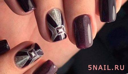 ногти в геометрическом стиле