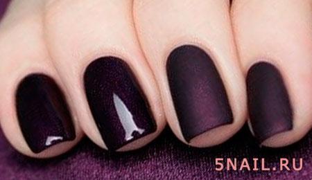 глянцевое и матовое покрытие ногтей