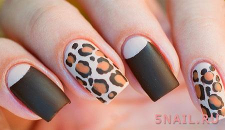леопардовые рисунки на ногтях