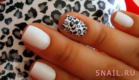 звериный принт на ногтях