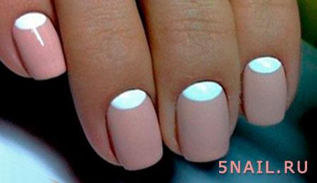Ногти с лункой дизайн