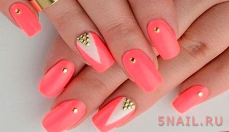 ногти коралловые с бульонками