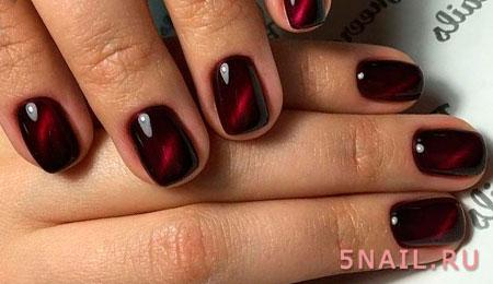 красные ногти со свечением