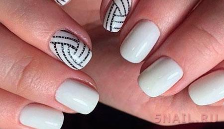 белое покрытие ногтей
