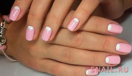 френч в розовом цвете