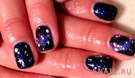 черный гель лак на ногтях