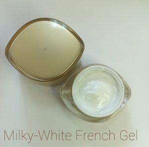 Молочно-белый френч гель для наращивания ногтей (15 мл.)
