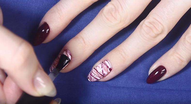 Осенний дизайн ногтей гель лаком
